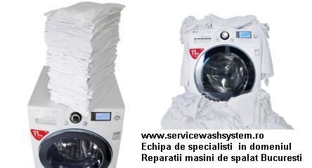 Reparatii masini de spalat rufe Bucuresti cu Garantie 2 ani la interventii.